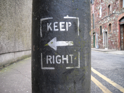Keep right...