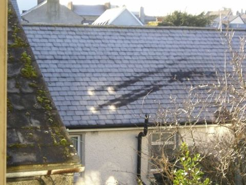 focused solar thawmarks rooftop, Kilkenny Ireland